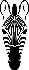 Zebra Face Stripes Decal Window Bumper Sticker Car Decor WIldlife Safari Animal