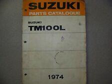 1974 SUZUKI TM100L PARTS CATALOG