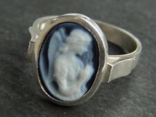 Ring mit Edelstein Gemme Schutzengel in Silber