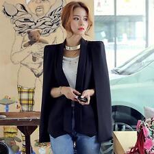 Womens Casual dress Jacket Shawl Open Placket Blazer OL Sleeveless Cape Coat Top