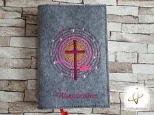 Gotteslobhülle Hülle Gotteslob Name Kommunion Gesangbuchhülle Filz Kreisel Kreuz