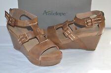 New $195 Antelope Style 961 Brown Leather Wedge/Platform Sandal Vintage