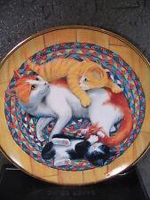 Franklin Mint SNUG ON A RUG 1991 Mother cat & Kittens LtdEd Plate Turi MacCombie