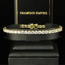 Lujo Reloj Mujer 4mm blanco Zirconia Bañado en oro 750 18 quilates b1029-2