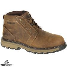 Caterpillar CAT Parker S1P SRC Mens Brown Steel Toe Cap Safety Boots Work Boot