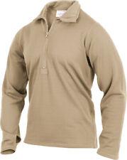 Desert Sand Gen III ECWCS Waffle Knit Thermal Underwear Zip Up Collar Top Shirt