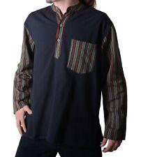 Herren Fischerhemd Überzieher Kurtha Baja Nepal aus Baumwolle