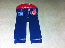 BABY BOYS RED ROBIN LEGGINGS/TRACK PANTS -BNIP - 0/6 MTH OR 6/12 MTH