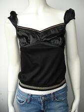 D&G Dolce&Gabbana Top Shirt Tanktop Schwarz Neu S M