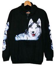 Sweat Jacke Hoodie Husky, Gr. S M L XL Cowboy Indianer Alaska,Hund Wölfe,Wolf