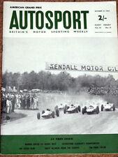 Autosport 12/10/62* US GP - BRANDS 6 HRS - LOTUS ELAN 1500 - PARIS SHOW