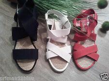 Damen Sandalette von Claudia Ghizzani - Riemchen- Keilabsatz - Sandale NEU
