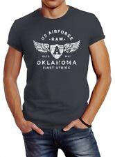Herren T-Shirt Print US Airforce Oklahoma Aviator Vintage-Shirt Neverless®