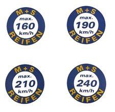 Geschwindigkeitsaufkleber Vmax 160-190-210-240 km/h