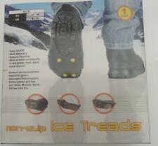 NON-SLIP ICE TREADS SNOW GRIP CLEATS SHOE BOOT TRACTION SLIP-ON UK8-13 EU43-48 L