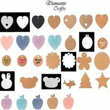 Etiquetas Papel Kraft Etiquetas Craft equipaje + Cadena-elegir importe de 63 Designs