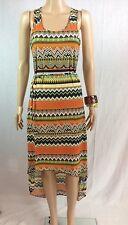 Ladies Asymmetrical Hem Sleeveless Summer Dress Beach Boho Sun Dress Women