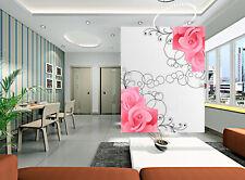 3D Jasmin 1 Photo Papier Peint en Autocollant Murale Plafond Chambre Art