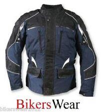 Targa Triton Azul Marino Impermeable Chaqueta Moto Motocicleta Touring Textil