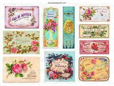 Meubles Décalque Transfert de l'Image Vintage Shabby Chic Floral Labels signes publicités