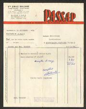 """TREIGNAC (19) MACHINES à TRICOTER """"PASSAP / Ets. Emile BALLAGE"""" en 1958"""