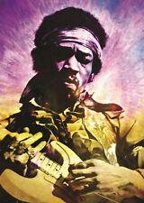 138453 JIMMI HENDRIX PURPLE HAZE TRIPPY Wall Poster Print Affiche