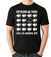 T-Shirt BLACK SHEEP - STAFFORDSHIRE BULL TERRIER Hund Druck digital Siviwonder