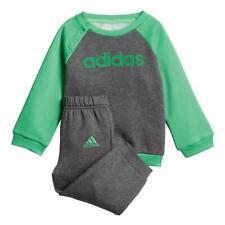 Suit Adidas Child DJ1570 Giro Logo Flock Grey Green Brushed Original New