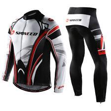Mens Long Cycling Jerseys Kits Pants Padded Sun Protector Sleeves Bike Clothing
