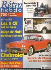 RETRO HEBDO 90 CHEVROLET CORVETTE 1962 LOCOMOBILE 1909