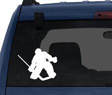 Sports Silhouette - Hockey Goalie Save - Car Tablet Vinyl Decal