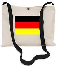 German Flag Canvas Musette Bag 40x30cm, 150cm Long black adjustable strap