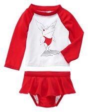 NWT Gymboree Olivia Red Rash Guard Set Swimsuit 6 12 18 24mo 2T 3T 4T 5T GIRLs