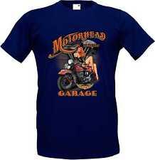 T-Shirt in navy blue with a Biker Chopper Old School Motif Model Motörhead