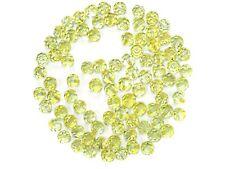 Preciosa Genuine Czech Round MC Faceted Crystals, Crystal Medium Yellow ct Beads