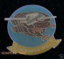 AUTHENTIC E-2 HAWKEYE SUPER FUDD LOGO US NAVY HAT PIN USS ASW WOW