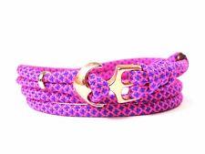 Ancla armband-paracord-verstellbar-wickelarmband-neon Rosa Diamantes