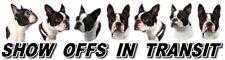 BOSTON TERRIER Show Off Dog Car Sticker By Starprint