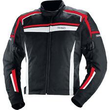 IXS Giacca Moto Lega nero-rosso-bianco Uomo Tessuto tessuto Giacca acqua vento