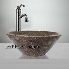 Marble Stone Sink Bathroom Countertop Vanity Basin Cloakroom Wash Bowl Grey R19