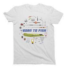 Born To Fish T-Shirt Boys Girls Kids Unisex Fit Fishing Fisherman Gift