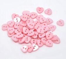 Multicolor Corazón 2 agujeros botones de costura de resina Recortes 12x11mm
