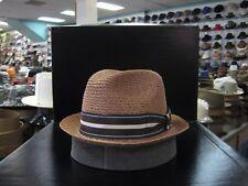 BILTMORE HEMP COCOA STINGY BRIM FEDORA DRESS HAT