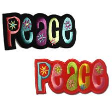 Aufnäher / Bügelbild - Peace Frieden Hippie - mehrere Farben auswählbar - 11 x 5