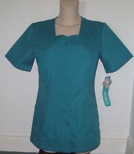 CHEROKEE TEAL Veterinary Hospital Beautician Tunic Uniform 2 Pockets S/L/ XL/3XL