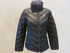 New Women's Kenneth Cole Reaction Down Packable Black Jacket Coat S, M, L, XXL