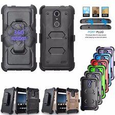 For ZTE Grand X 4 Z956 Phone Hybrid Damon Armor Shockproof Hard Clip Case Cover