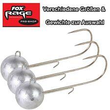 3 Fox Rage Jigköpfe Round Jigs Jigkopf Jighaken für Gummifische - Kunstköder