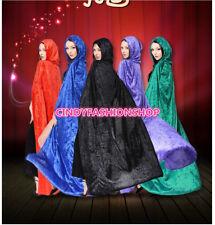 USA Velvet Adult Halloween Cloaks Hood and Capes Costumes For Women  Men #HC