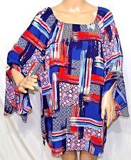 Southern Lady Women Plus Size 1x 2x 3x Sheer Chiffon Tunic Top Blouse Shirt